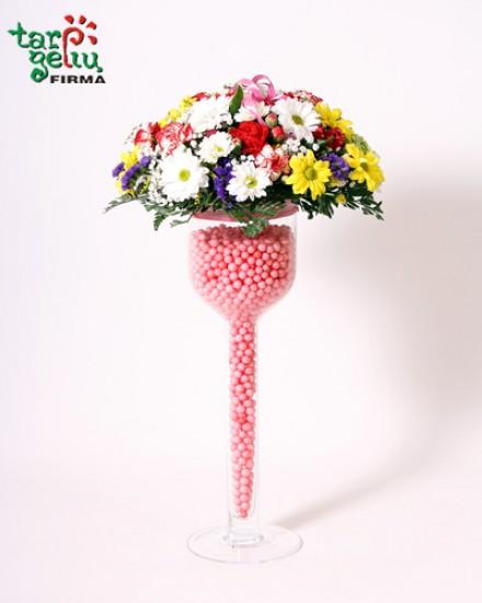 Gėlių kompozicija GIMTADIENIS
