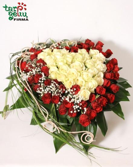 Širdis iš rožių