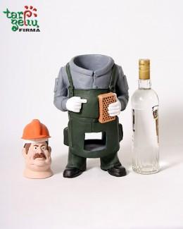 STATYBININKAS laikiklis buteliui