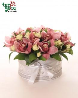 """Gėlių dėžutė """"Orchidėjų žiedai"""""""