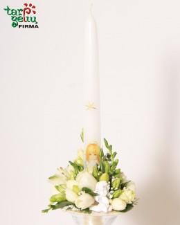 Dekoruota žvakė ANGELAS