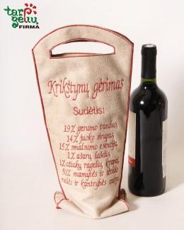 Maišelis buteliui KRIKŠTYNŲ GĖRIMAS