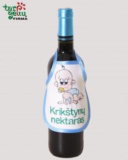 Prijuostė buteliui KRIKŠTYNOS
