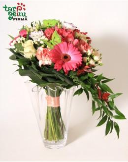 Rožių puokštė RAUDONA IR JUODA