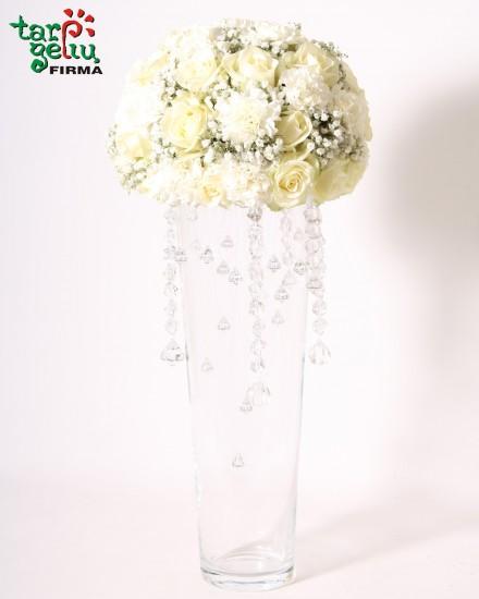 Rožių kompozicija DEIMANTŲ LIETUS