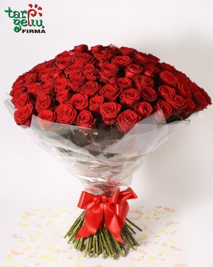 100 raudonų rožių Tau