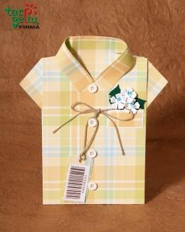 """Открытка """"Клетчатая рубашка"""""""