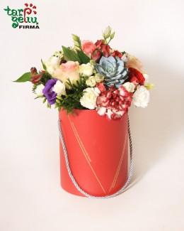 Цветы в коробке ТОЛЬКО ТЕБЕ