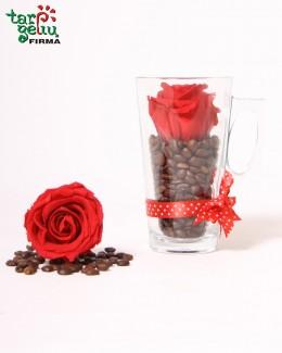 """Композиция """"Роза и кофе"""""""