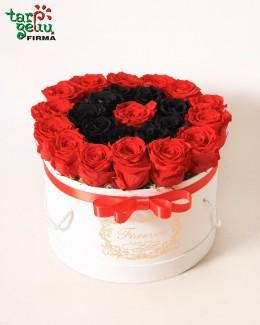 "Коробка с розами ""Кармен"""