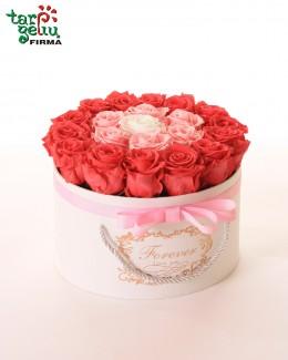 Коробка с розами PINK FLOYD