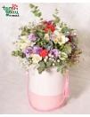 Цветы в коробке ДЕНЬ РОЖДЕНИЯ