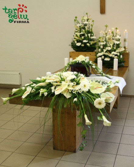 Gėlių pagalvėlė urnai