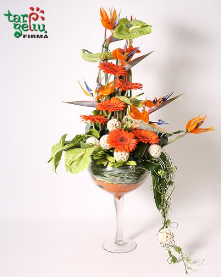 Flowers arrangement ANNIVERSARY