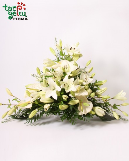 Funeral arrangement of Lilies