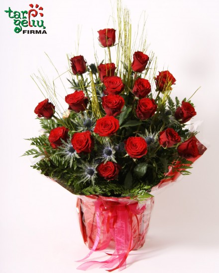 Arrangements of red roses