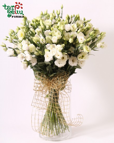 White eustoma bouquet