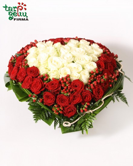 Composition ROSES HEART