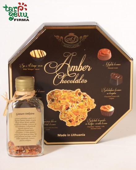 """Gintaro tinktūra ir saldainiai """"Amber Chocolates"""""""