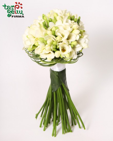 Bride's bouquet of freesia