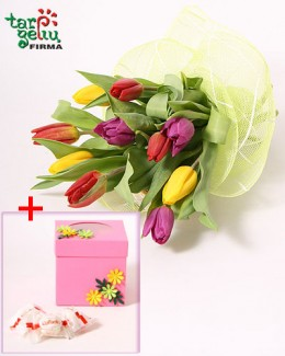 Bouquet of tulips + GIFT