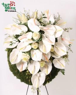 Funeral wreath ANTHURIUM