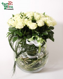 Roses bouquet  WHITE SYMPHONY