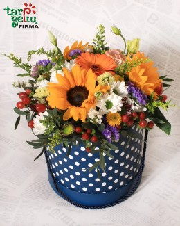 Flower box POLKA DOT