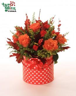Flower box POLKA DOT