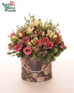 "Flowers box ""Eustoma & freesia"""