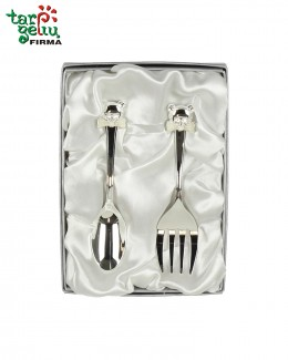 SPOON & FORK SET WITH TEDDY