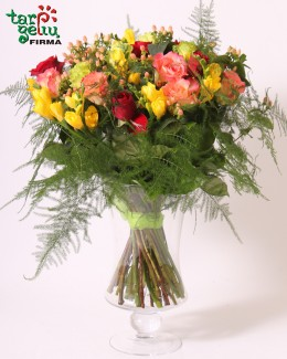 Bouquet of multicolored roses