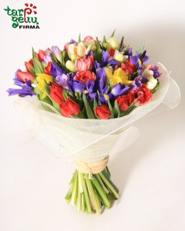 Brightly colored spring bouquet
