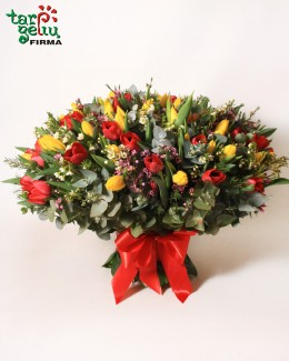 Bouquet of 100 Tulips
