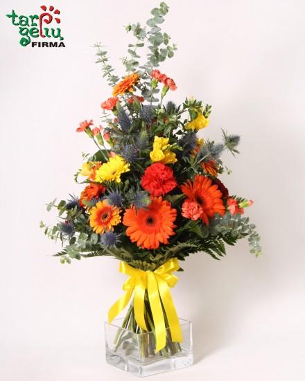 Vasaros gėlių puokštė