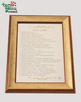 Boso taisyklės ant veidrodžio