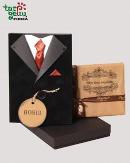 Sveikinimas ir šokoladas Bosui