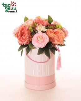 Dirbtinų gėlių dėžutė ROŽYNAS