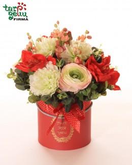 """Dekoratyvinių gėlių dėžutė """"Raudona"""""""