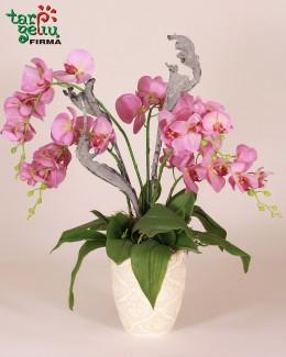 """Dirbtinių orchidėjų kompozicija """"Pink"""""""
