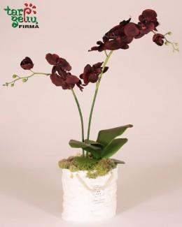 """Dirbtinių orchidėjų kompozicija """"Bordo"""""""