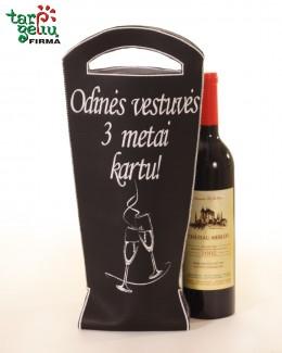 """Maišelis buteliui """"Odinės vestuvės"""""""