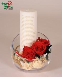 """""""Vestuvių metinių žvakė"""""""
