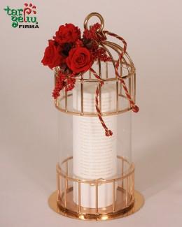 """Narvelis ir vestuvinė žvakė """"Metinės"""""""