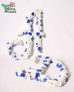 Gėlių raidės vestuvėms