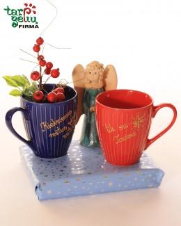 Puodelių rinkinys su arbata