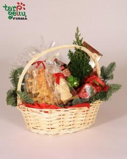 Kalėdinis krepšelis seneliams