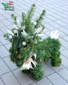 Kalėdų elnias iš kenio šakų