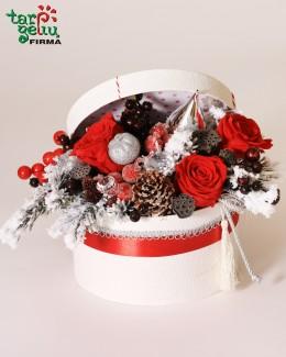 Kalėdinė gėlių dėžutė