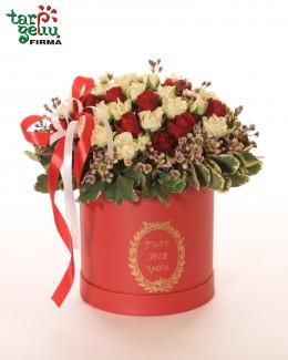 """Rožių dėžutė """"Raudona ir balta"""""""
